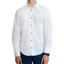 Camisa Lisa Color Blanco Marca Concrete Manga Larga