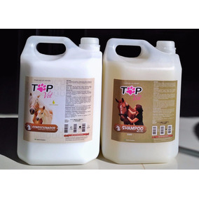 Kit Shampoo Neutro + Condicionador 5l Para Cavalos Top Vet
