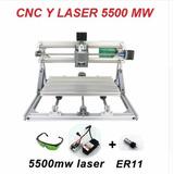 Maquina De Corte Laser 5500mw Laser + Router Cnc