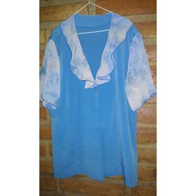 Preciosa Blusa De Crep Y Gasa.