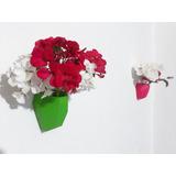 Maceta De Pared 3d 9 Cm Plantas Suculentas Flores + Regalo