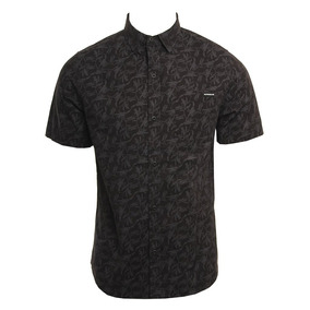 Ropa Surf Hombre Camisas Casuales Manga Corta - Camisas Negro en ... 7cc15d11751