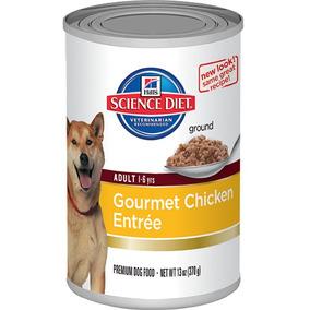 12 Latas De Alimento Perro Adulto Hills Science Diet 370 Gr.