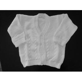Impecable Sweater Saquito Lana Celeste Y Blanco 2 Años