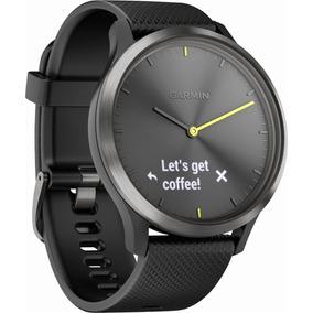Garmin - Vívomove Hr Sport Hybrid Smartwatch - Black