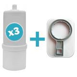 Repuesto Filtro Agua Oferta Pack X3 Uni. + Llave De Apertura