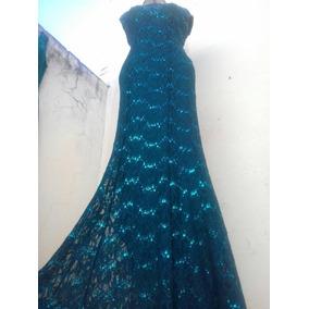 Vestido De Festa Sereia Verde Esmeralda Formatura Mãe Noivo