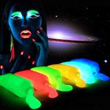 6 Pinturas Fluorescente Glow Neón Fiesta Batucada