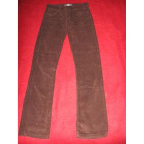 Pantalon De Corderoy Semi- Chupin Tiro Medio Con Botones