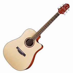 Violão Crafter Elétrico Acustico Folk Hde-200 Satim Hendrix