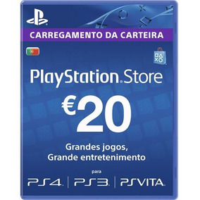Psn Card 20 Eur Portugal Cartão Playstation Network Imediato