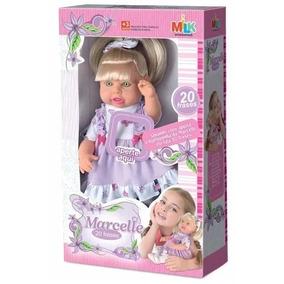 Boneca Meninas Milk Marcelle Fala 20 Frases Milk Brinquedos