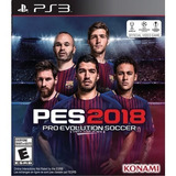Juego Ps3 Pro Evolution Soccer Pes 2018