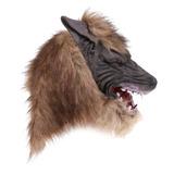 Marrón Máscara De Lobo Animal Cabeza Traje De Disfraces Pa