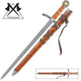 Edad Media Espada Amplia Y Vaina A Juego
