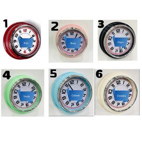 Reloj De Pared Retro Vintage Redondo A Pila Varios Colores
