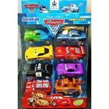 Kit 8 Carrinhos Filme Carros 2 Mcqueen Disney Pixar Cars
