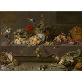 Frans Snijders - Flores, Frutas Y Verduras, 1620 Pintura Al