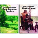 Don Segundo Sombra Martin Fierro Lote X 2 Libros Nuevos