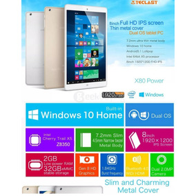 Tablet Windows Android 2gb/32gb Teclast X80 Pro Con Funda