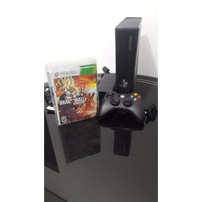 Xbox 360 Slim 4gb Desbloqueado 1 Controle 10 Jogos Hdmi