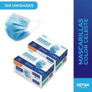 Dos Cajas Mascarillas Desechables (100 Un) Certificadas