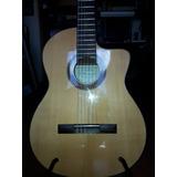 Guitarra Española Clásica De Luthier Con Corte,mic Y Eq Orig