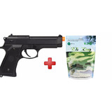 Pistola Airsoft Elétrica Cyma Beretta Cm126 + 5000 Bbs