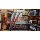Antigua Publicidad Exhibidor De Radios Rca Victor .enorme!!