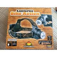 Lanterna De Cabeça Prova D'água Ou Bike Bateria 500 Lumens