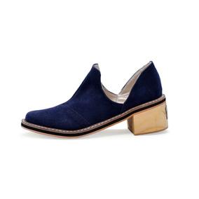 Zapatos Bajos Mujer Texana Baja Moda 2018 Taco Folia Aime