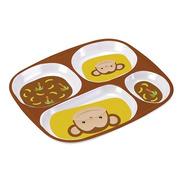 Prato Com Divisorias Macaco Bebê Infantil