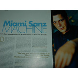 Alejandro Sanz Miami Machine 4 Pg Clipping Revista Elle