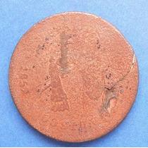 Moneda Mexico 1/4 De Real San Luis Potosi 1857 Cobre