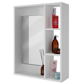 Mueble Con Espejo Tipo Gabinete Con Repisas Para Baño Bbn 03