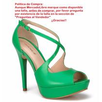 Zapatillas Andrea Verdes De Piel 12cms Primavera 2017 18317