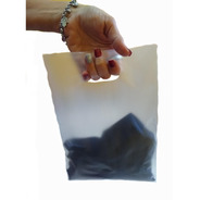 300 Bolsas Sin Impresion 35x45 Semitransparente Riñon