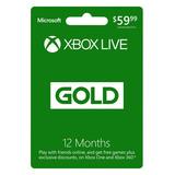 Membresía De Oro De Microsoft Xbox Live 12 Meses (tarjeta .