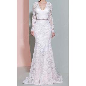 Vestido Longo De Noiva, Casamento Civil D061q