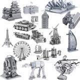 Rompecabezas 3d Metal Varios Modelos