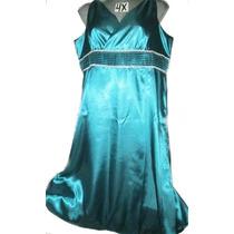 Vestido Gala Azul En Talla 4 X ( 28w ) Extragrande P-gordita