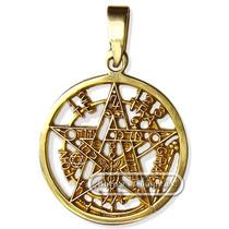Pentagrama Esotérico Oro De 18 Kilates