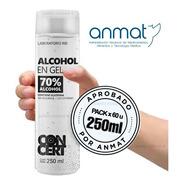 Alcohol En Gel 250ml X Pack 60 Unidades - Aprobado Anmat