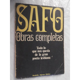 Safo Obras Completas Rodolfo Alonso Editor