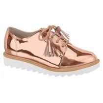 Sapato Feminino Infantil Molekinha Ouro Rosado 2510.101