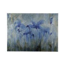 Pintura Artecooper Classics Blue Flowers 48 X36 Rectangular