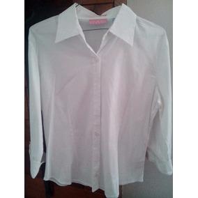 Camisa De Dama Tres Cuarto Talla L