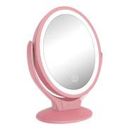 Espelho Mesa Touch Com Led Maquiagem Dupla Face Ampliação 7x