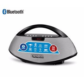 Caixa De Som Portátil Bluetooth Mondial 15w Rádio Fm Usb Sd