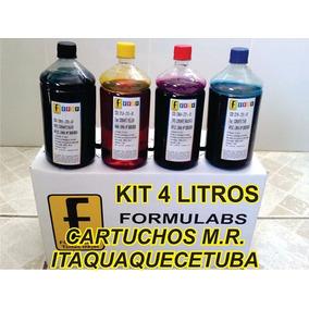 Kit Tinta Recarga Cartuchos 670 3525 4615 4625 5525 4 Litro
